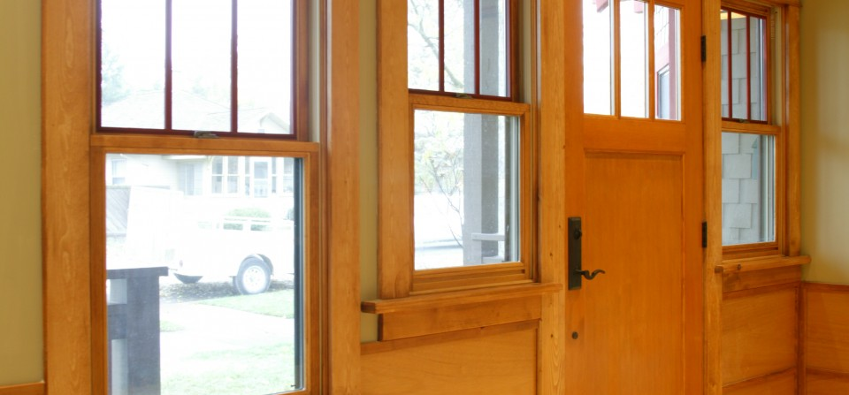 Wood Trimmed Entry