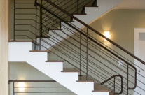 Staircase with Powdercoated Railing